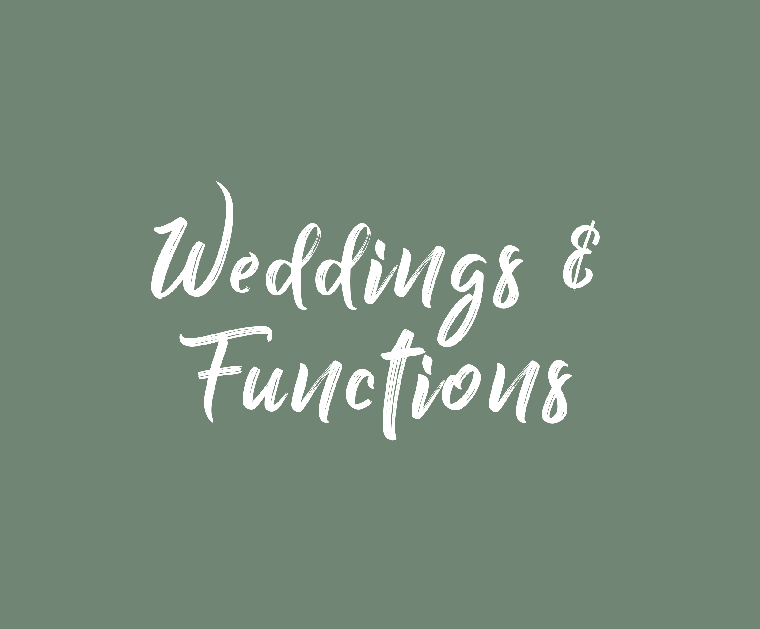 Weddings & Functions